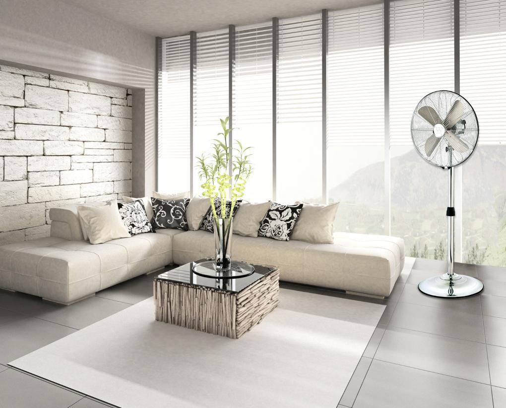 3in1 Portable Ventilator Stand- oder Wandventilator m/öglich chrom 7242140 Installation als Tisch- Westinghouse Lighting Silver Stream// 40 cm